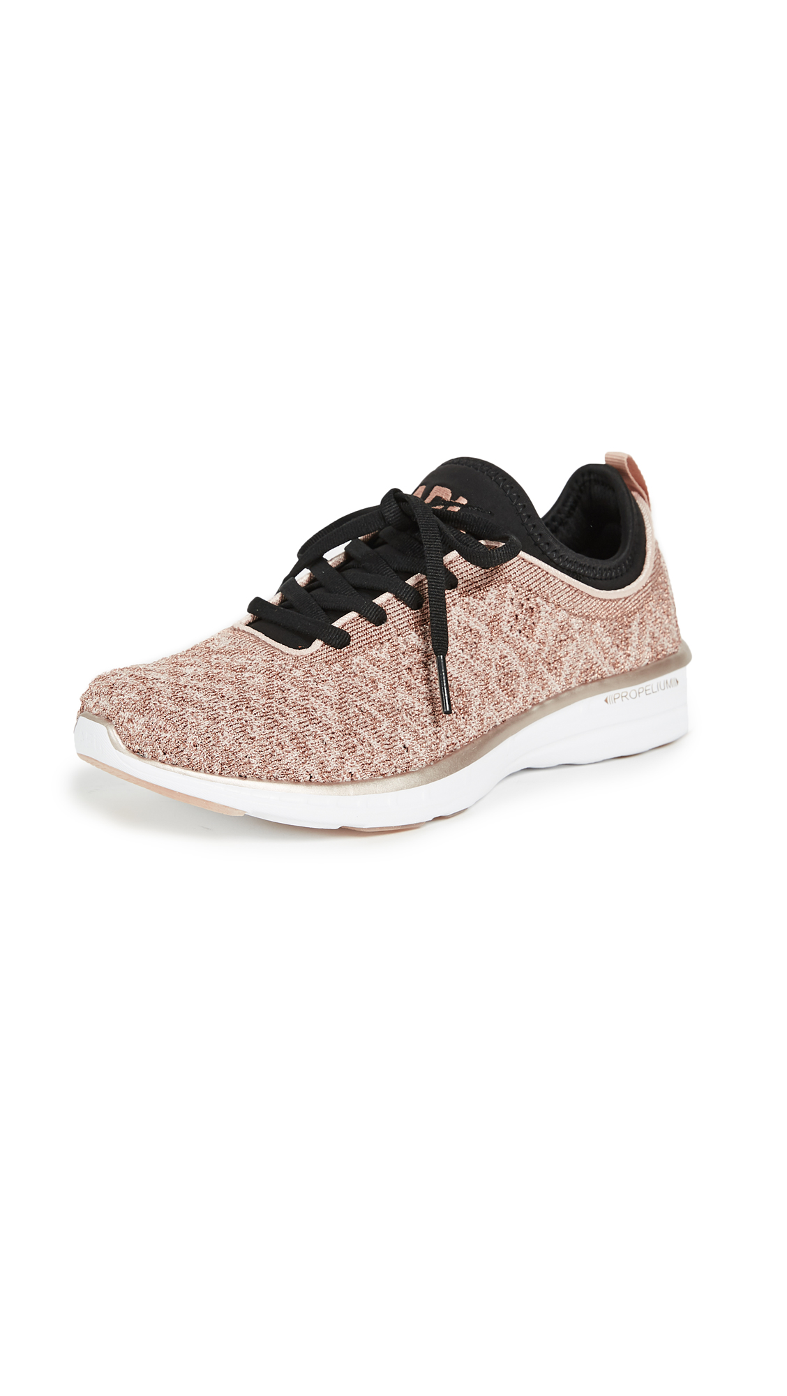 APL: Athletic Propulsion Labs TechLoom Phantom Sneakers - Rose Gold/Black