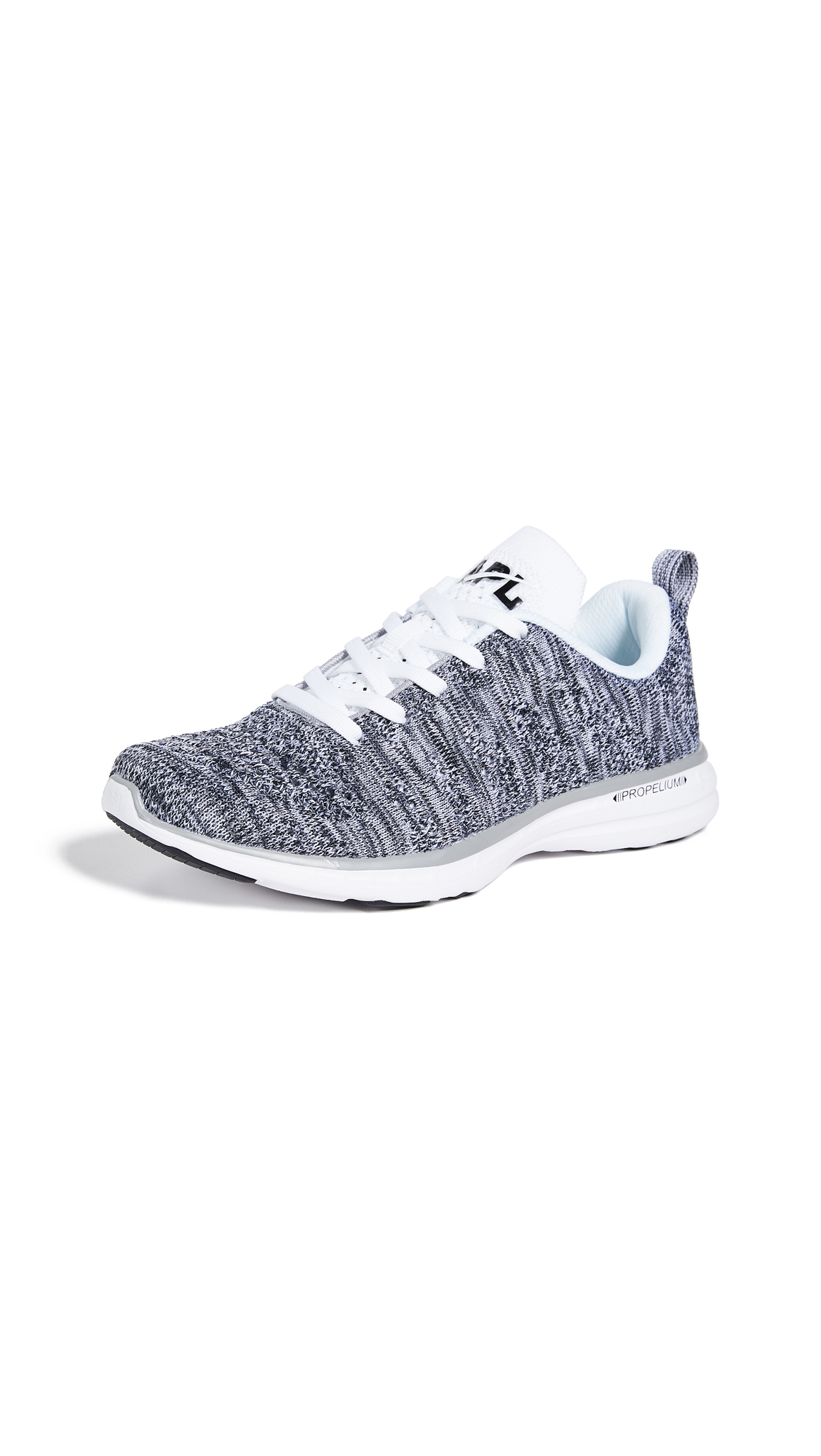 APL: Athletic Propulsion Labs TechLoom Pro Sneakers - Heather Grey/White/Black