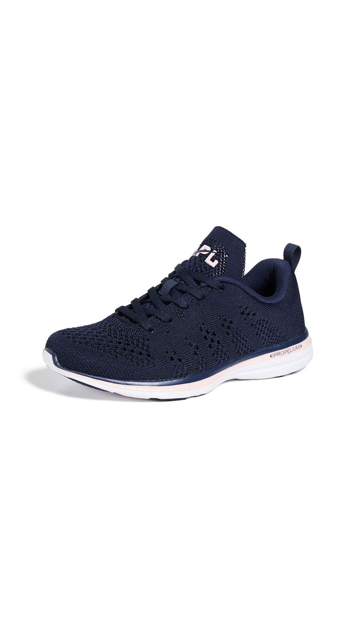 APL: Athletic Propulsion Labs TechLoom Pro Sneakers - Midnight/Gossamer Pink/White