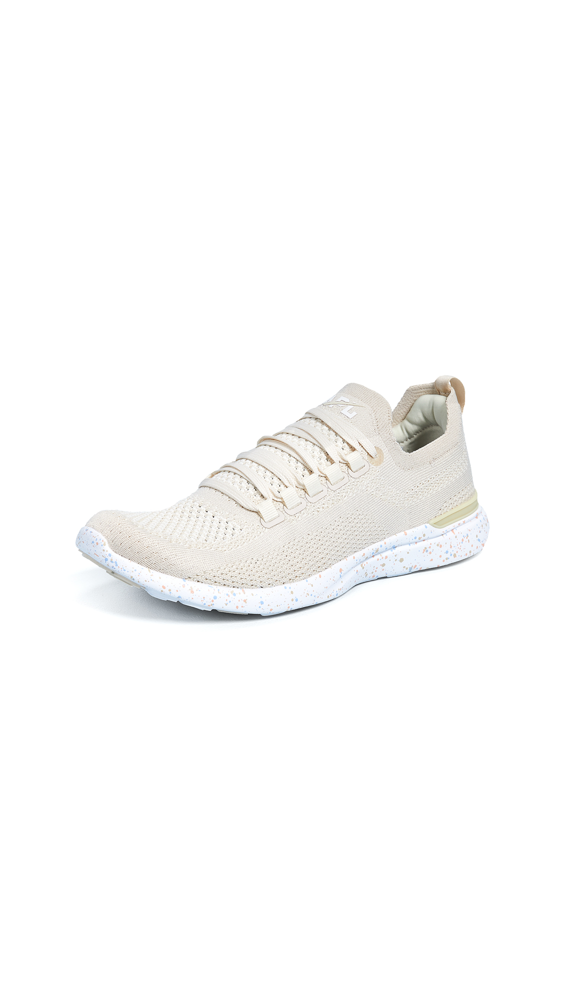 APL: Athletic Propulsion Labs TechLoom Breeze Sneakers - Parchment/Blush/Sky
