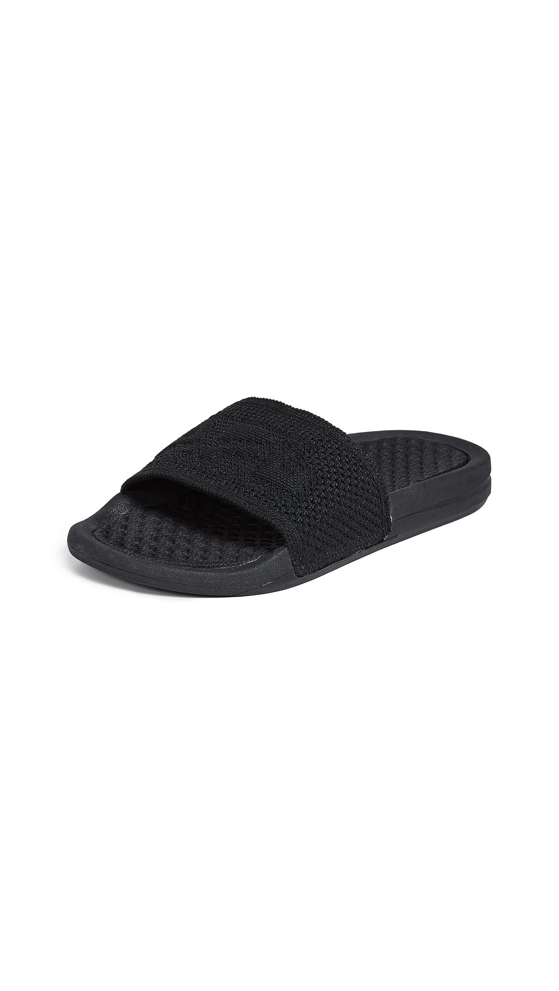 APL: Athletic Propulsion Labs Big Logo TechLoom Slide Sandals - Black