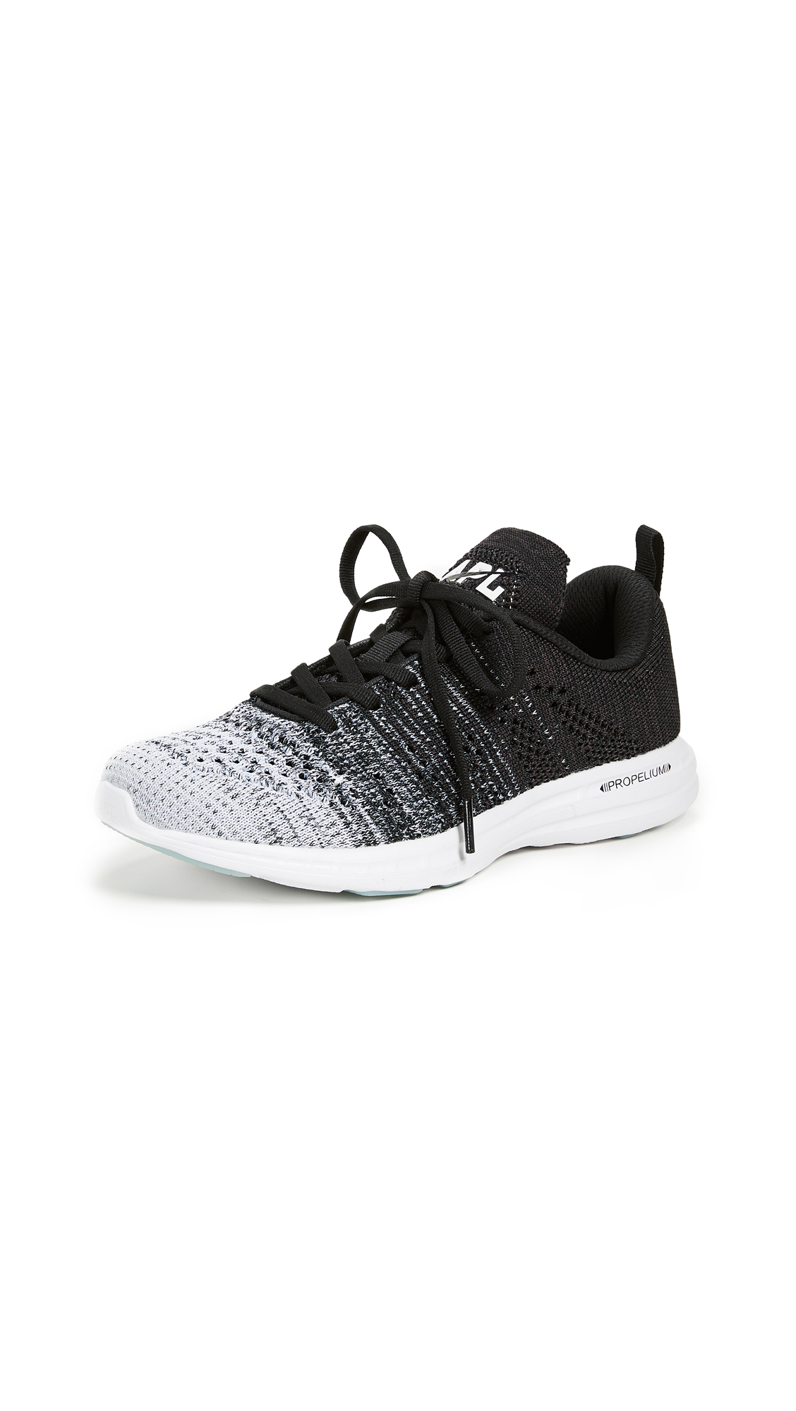 APL: Athletic Propulsion Labs TechLoom Pro Sneakers - White/Grey/Black Melange
