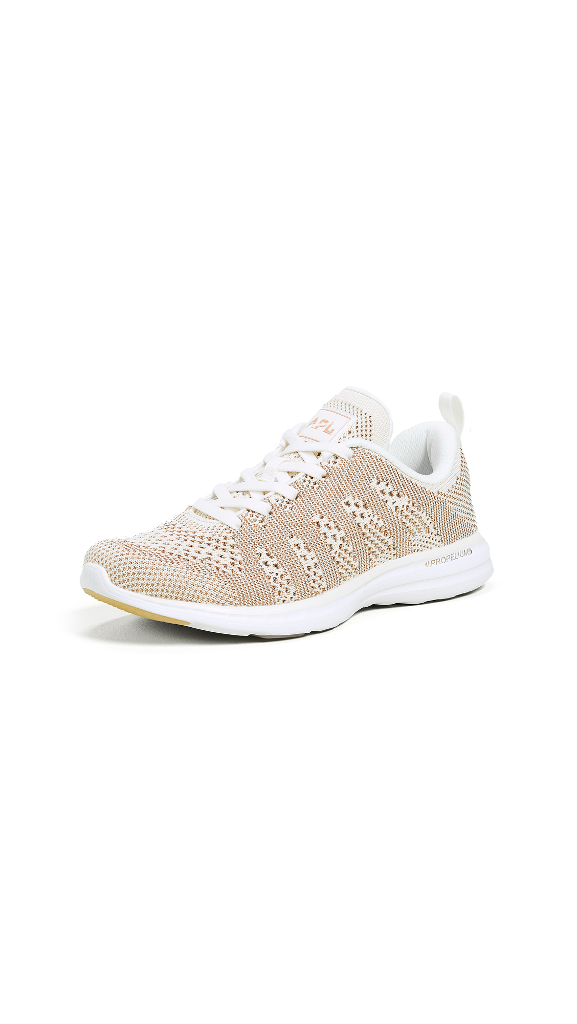 APL: Athletic Propulsion Labs TechLoom Pro Sneakers - Pristine/Rose Gold/White
