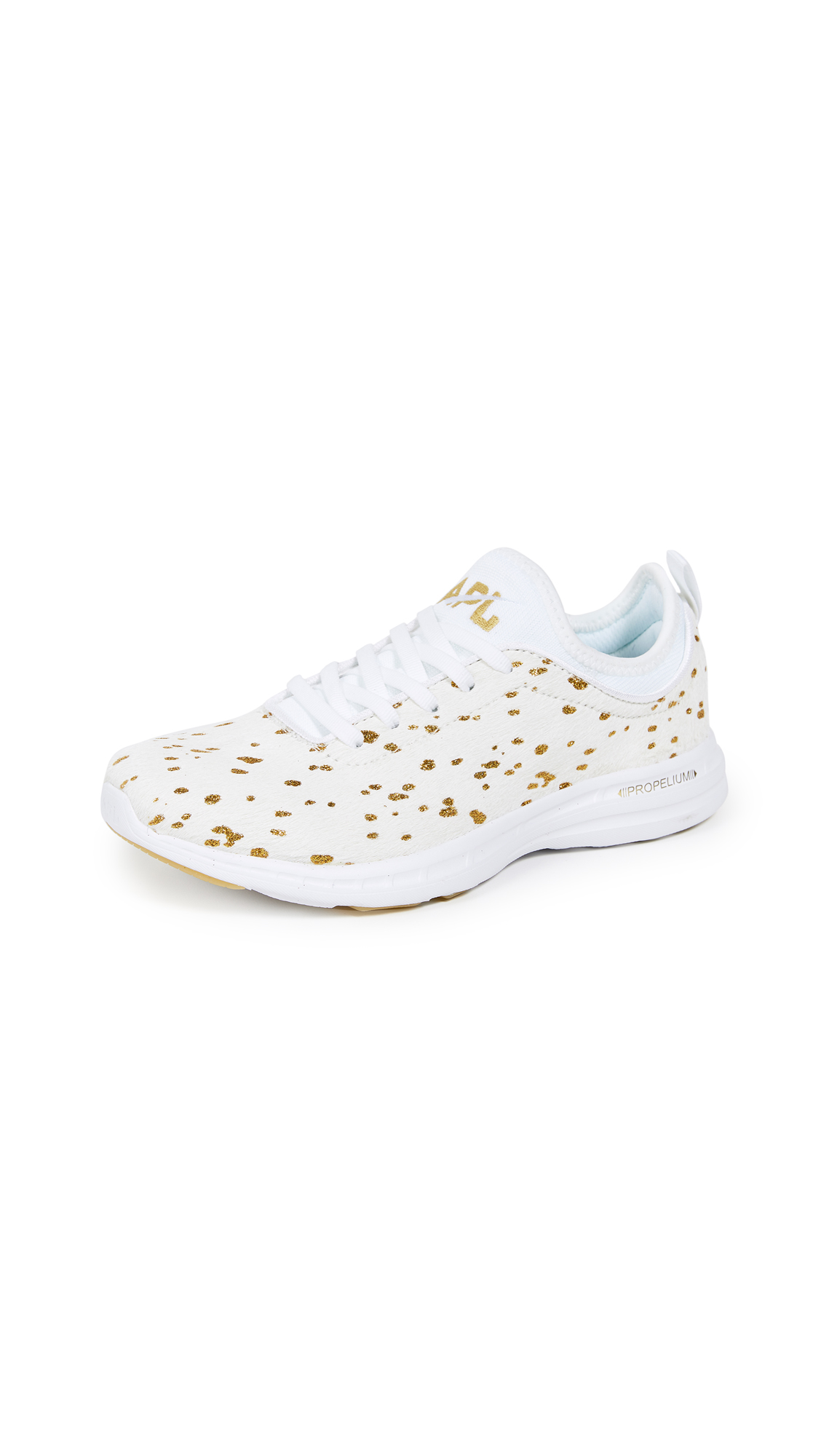 APL: Athletic Propulsion Labs TechLoom Phantom Sneakers - Cream/Gold