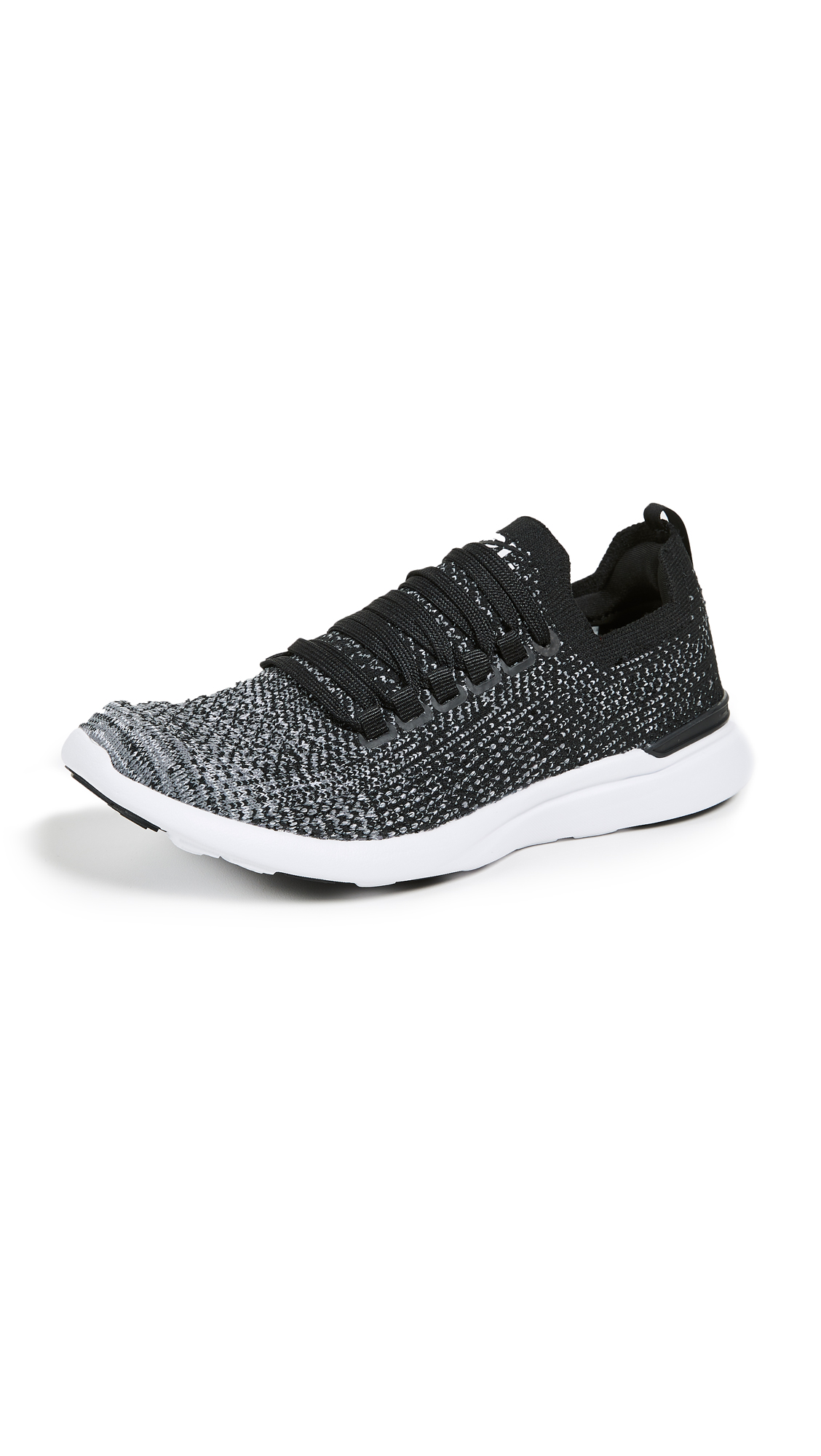 APL: Athletic Propulsion Labs TechLoom Breeze Sneakers - Black/Heather Grey/White