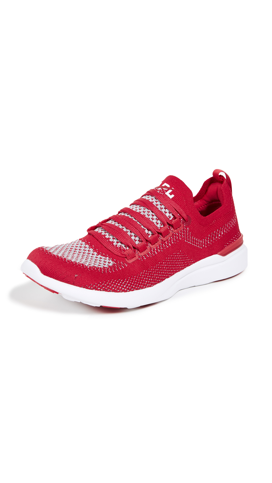 APL: Athletic Propulsion Labs TechLoom Breeze Sneakers - Red/Metallic Silver/White