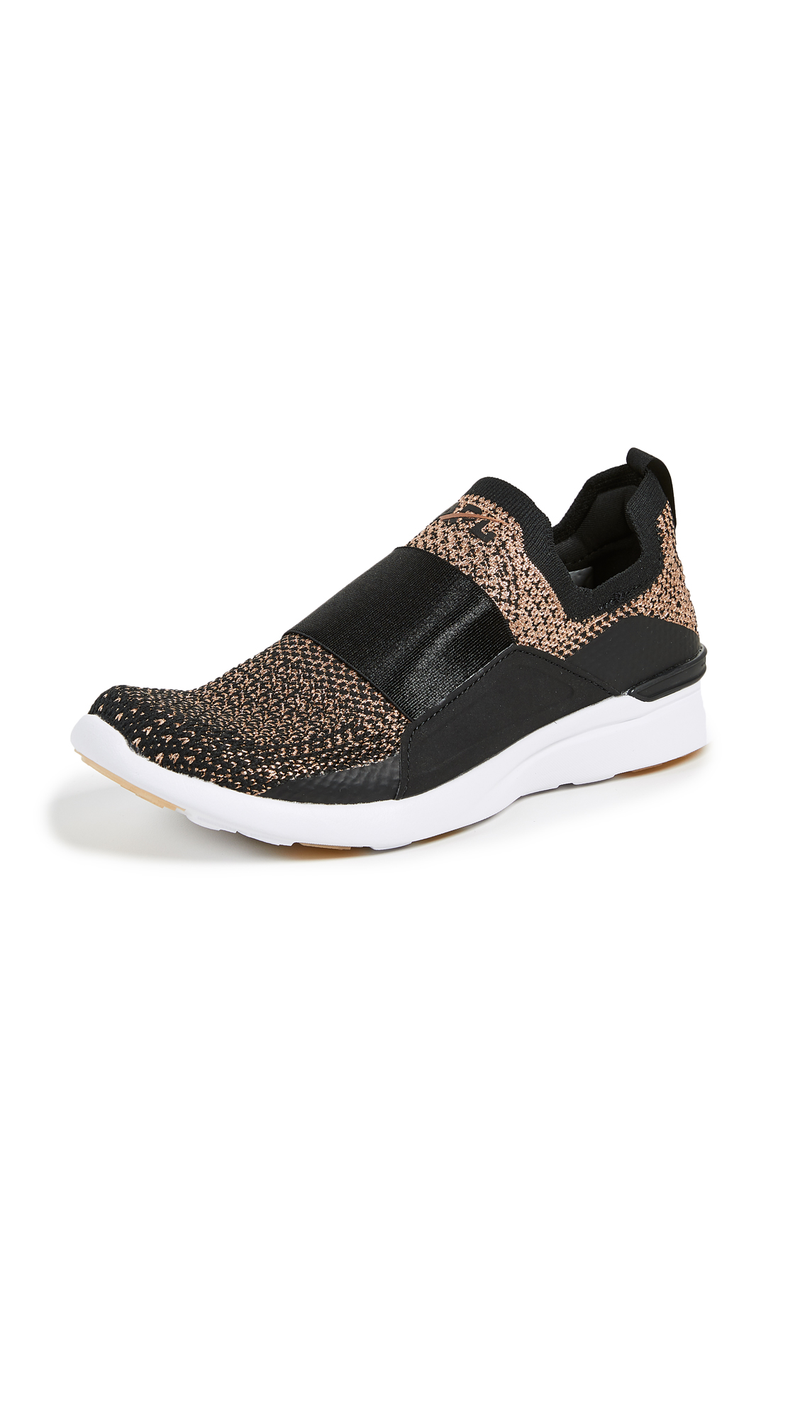 APL: Athletic Propulsion Labs TechLoom Bliss Sneakers - Black/Rose Gold/White