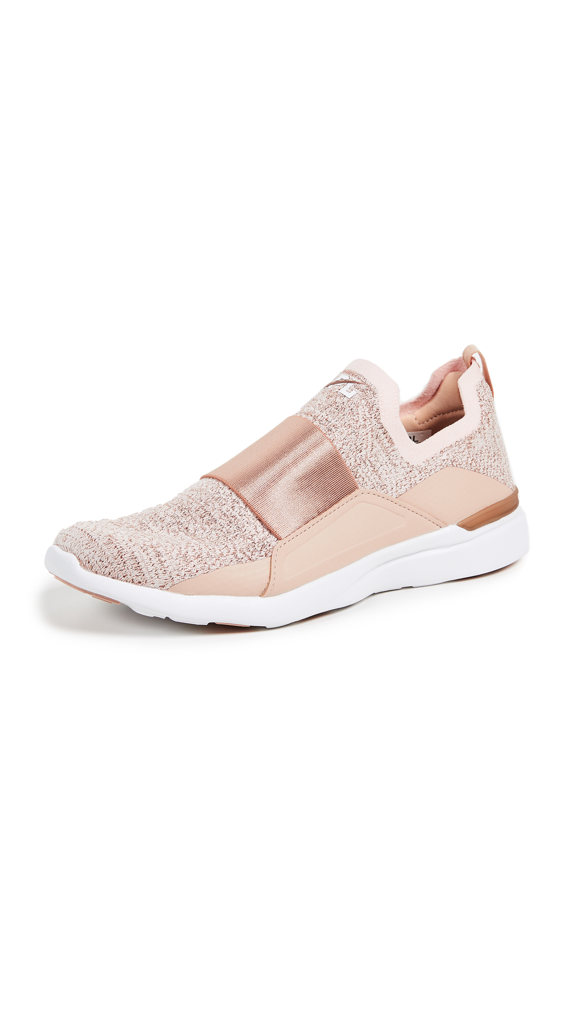 APL: Athletic Propulsion Labs TechLoom Bliss Sneakers - Rose Gold/White