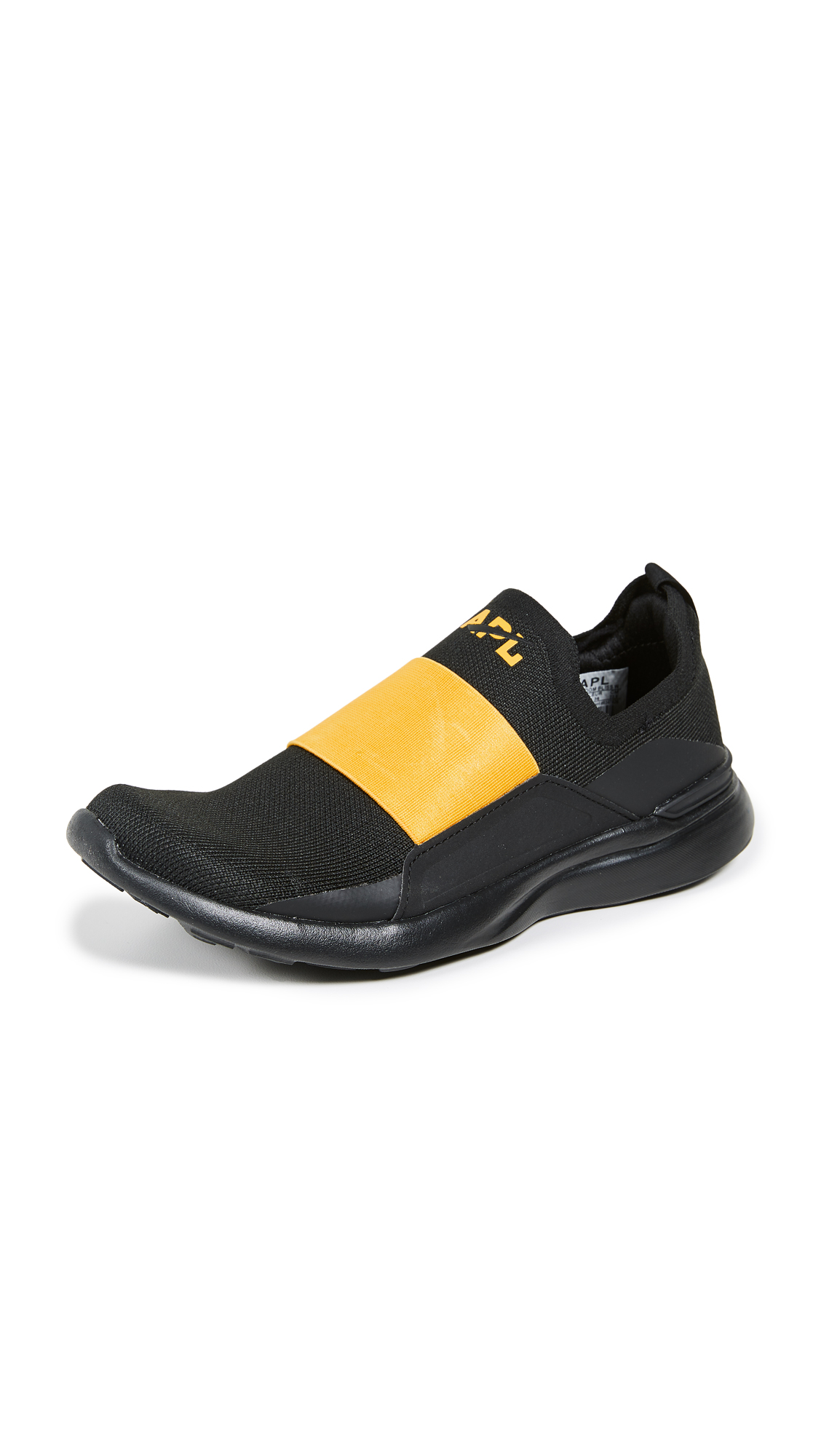 APL: Athletic Propulsion Labs TechLoom Bliss Sneakers - Black/Racing Yellow