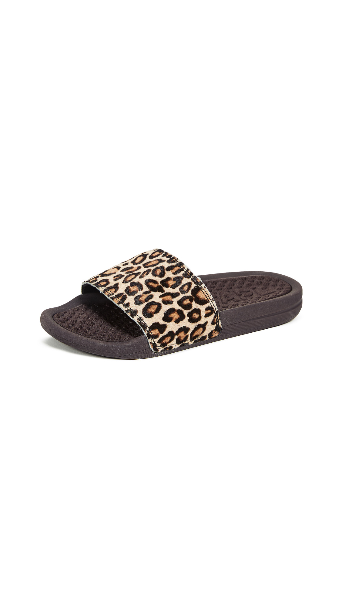 APL: Athletic Propulsion Labs Iconic Calf Hair Slide - Cheetah