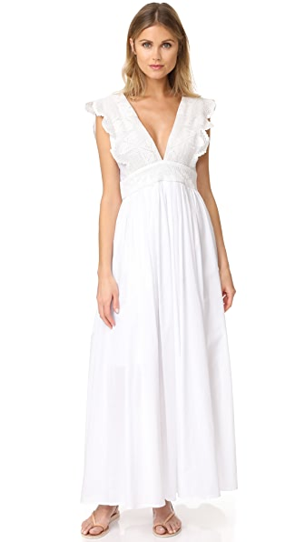 Place Nationale Isidore Maxi Dress In White