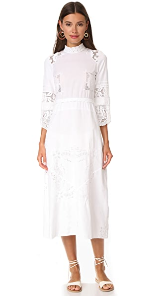 Place Nationale La Darse Edwardian Tea Dress In White