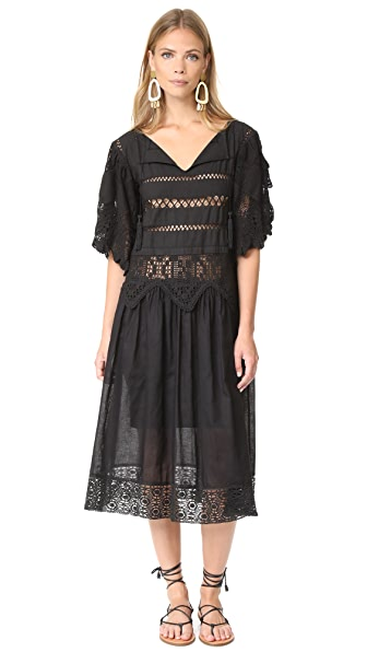 Place Nationale Grasse Midi Dress - Black
