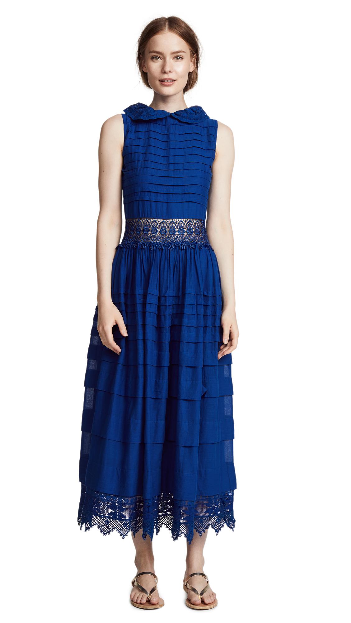PLACE NATIONALE Cima Dress in Cobalt Blue