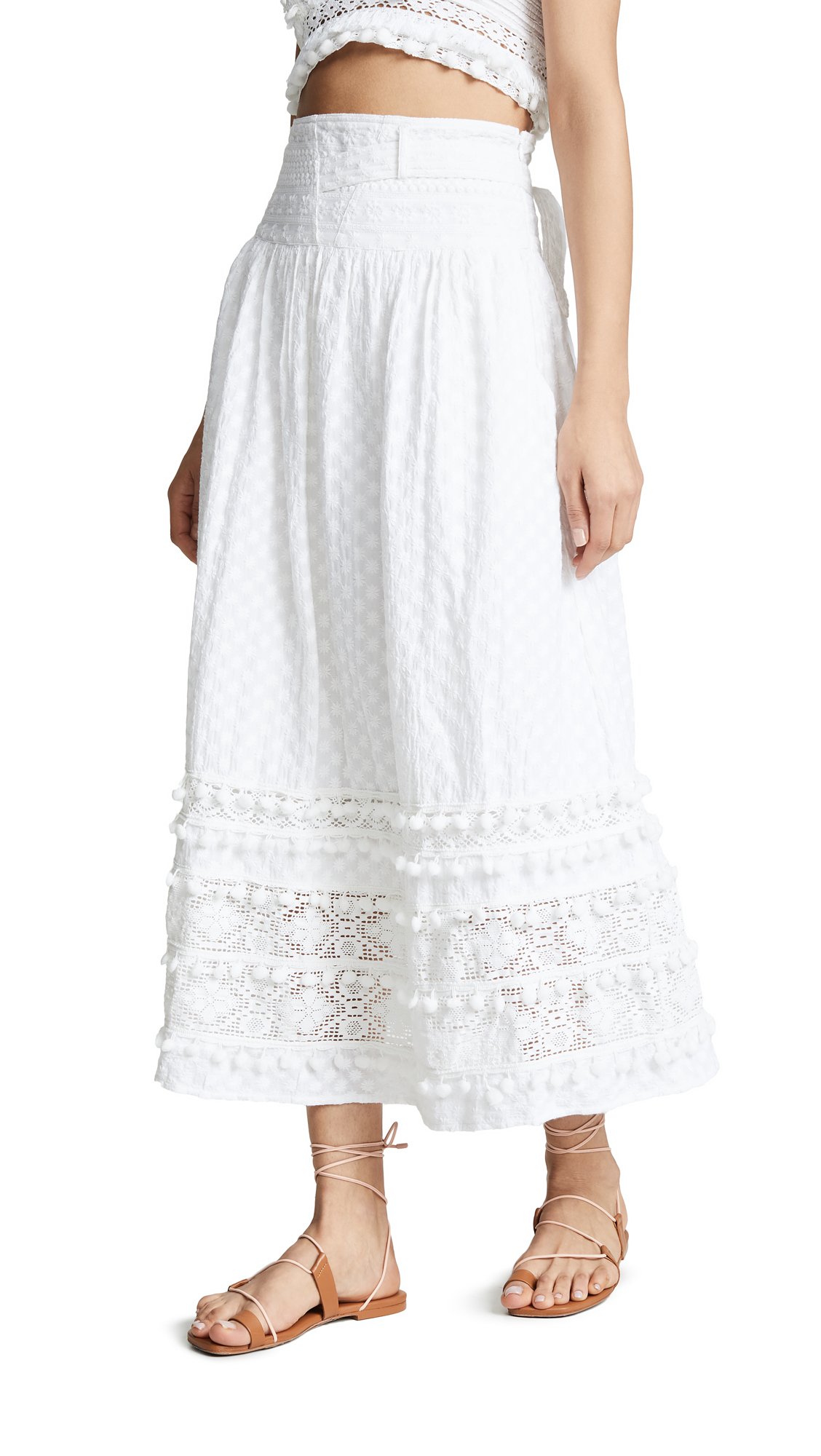 PLACE NATIONALE Florent Maxi Skirt in Neutrals