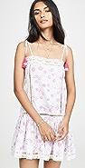 Place Nationale L'Eden Floral Print Tie Strap Mini Dress