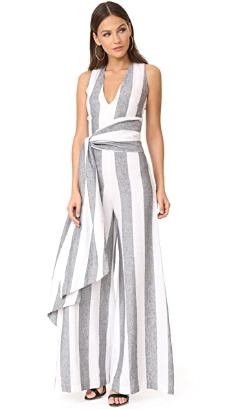 PAPER London Vivienne Jumpsuit - Black & White