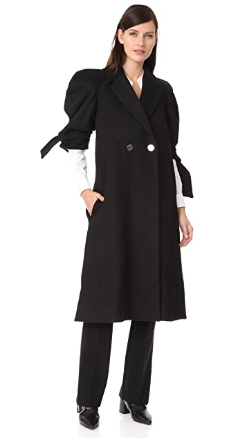 PAPER London Jet Wool Coat