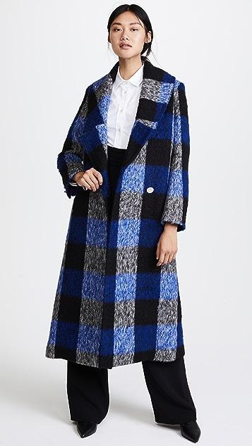 PAPER London Rainbow Check Wool Coat