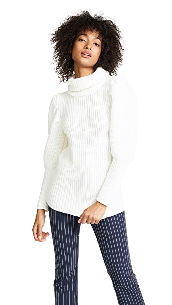 PAPER London Bill Sweater In Ivory