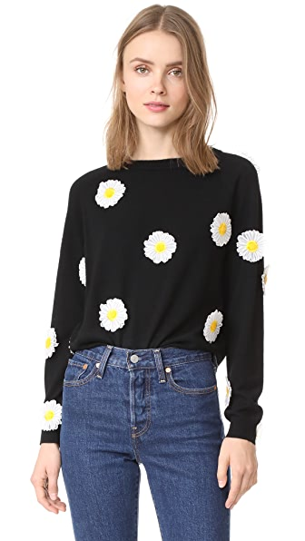 PAPER London Daisy Wool Jumper In Black