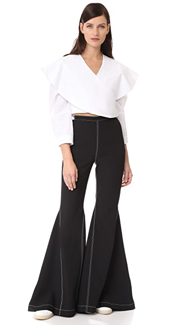 PAPER London Tempest Flare Trousers