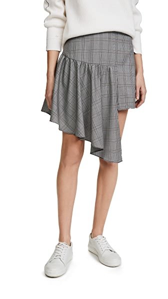 PAPER London Fountain Skirt In Check