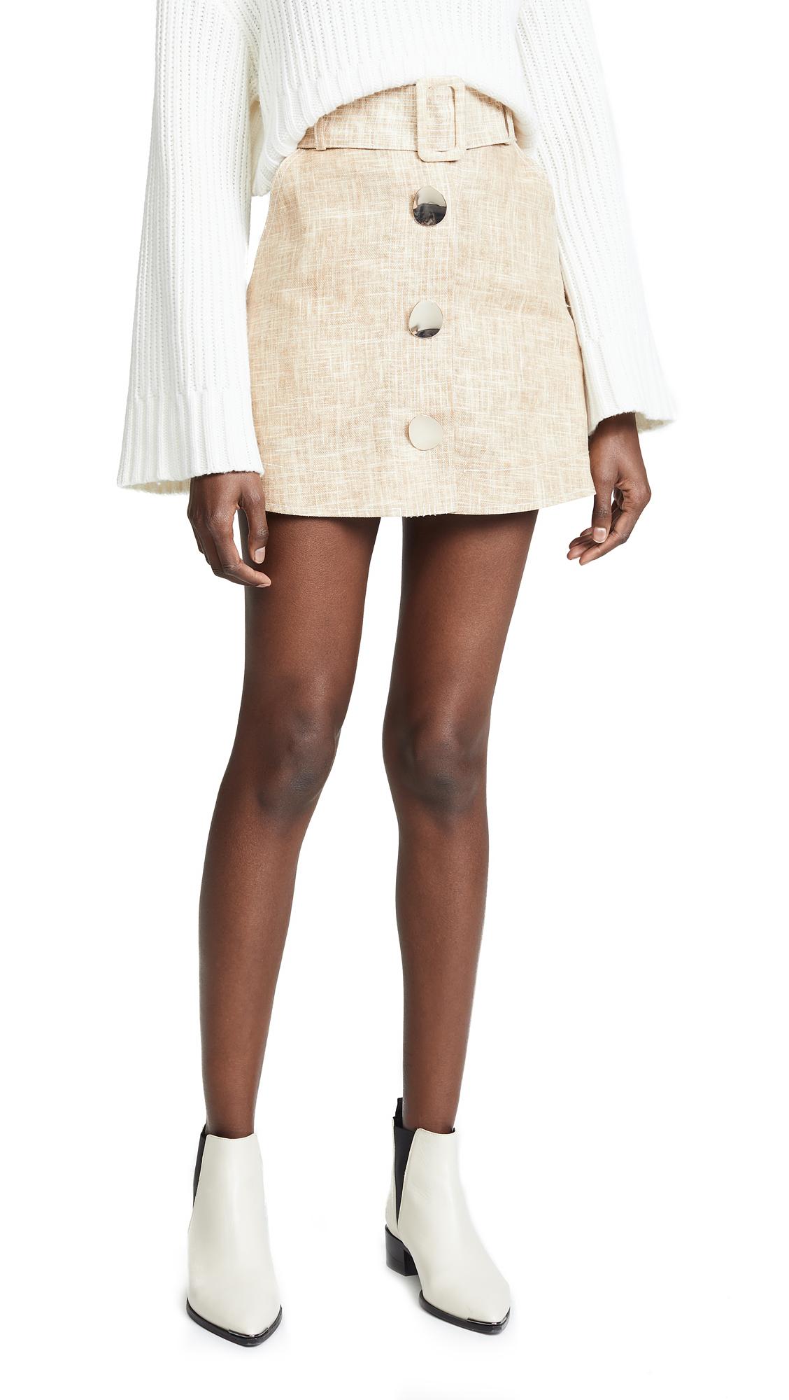 PAPER London Wallace Mini Skirt In Latte