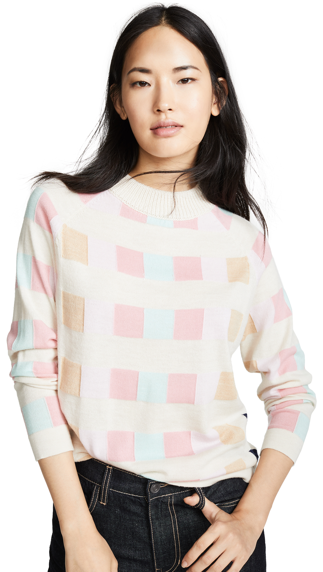 PAPER London Montana Sweater In Check