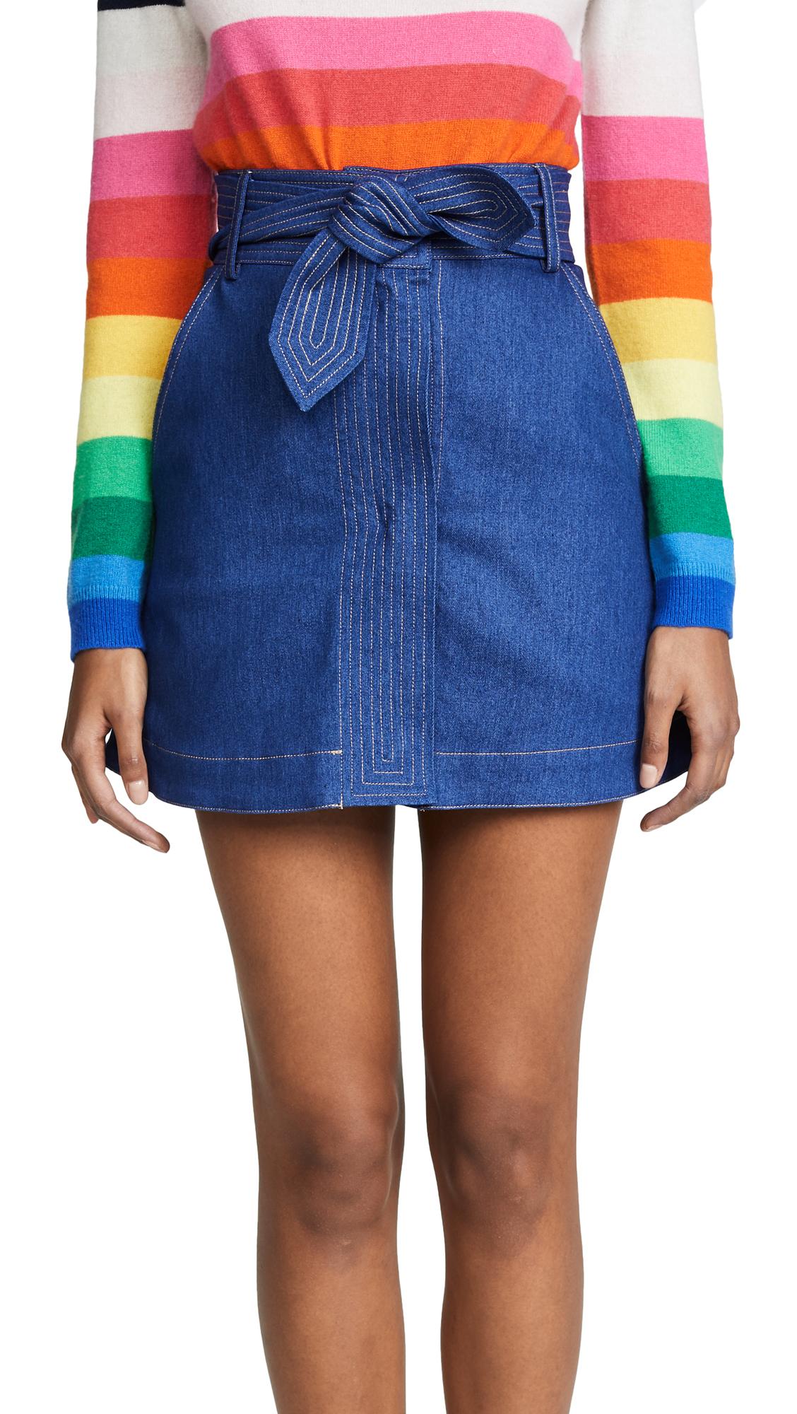 PAPER London Wallace Miniskirt In Sharp Blue