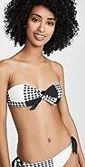 PAPER London Cha Cha Bandeau Tie Bikini Top