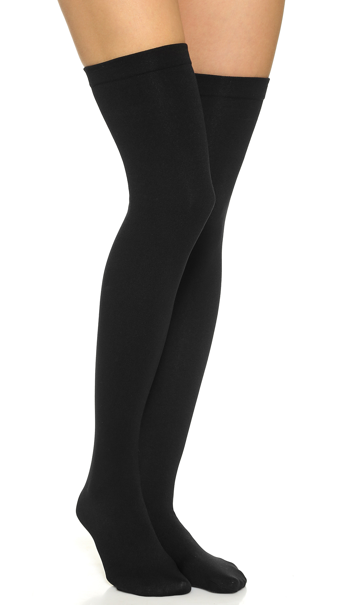 PLUSH Fleece Lined Thigh Highs in Black