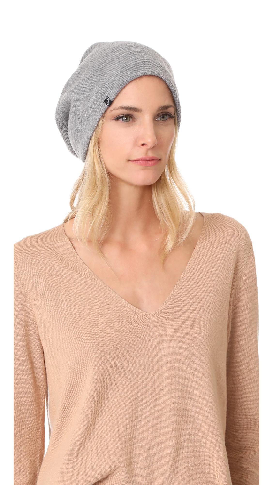 Plush Barca Slouchy Fleece Lined Hat - Grey