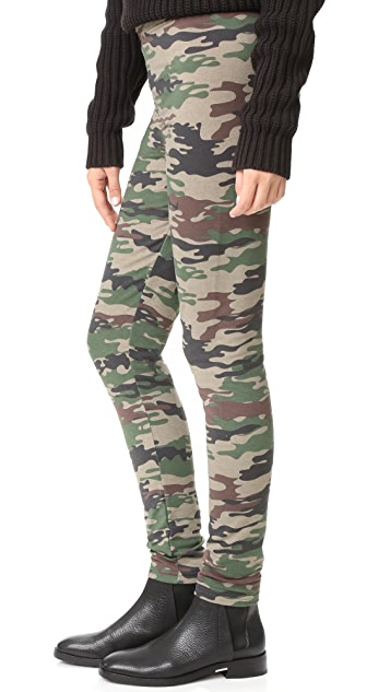 Plush Fleece Lined Camo Print Leggings