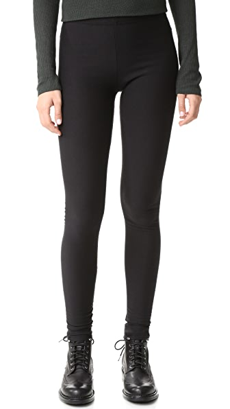 Plush Fleece Lined Leggings - Black