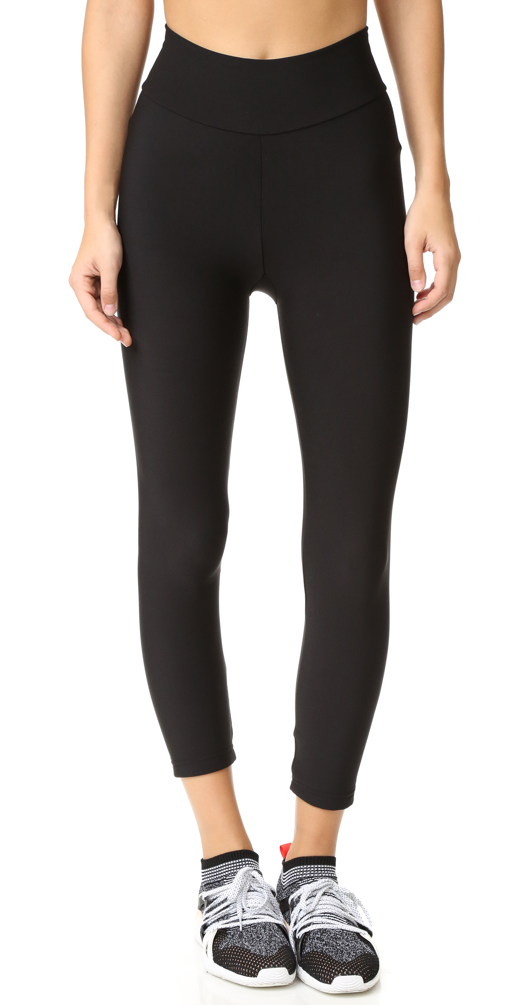 Fleece Lined Cropped Athletic Leggings Plush