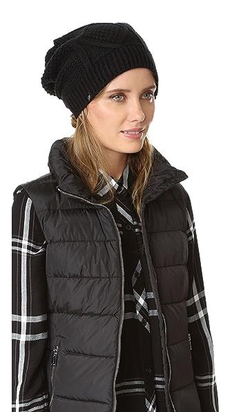 Plush Связанная косичками шапка с подкладкой из флиса