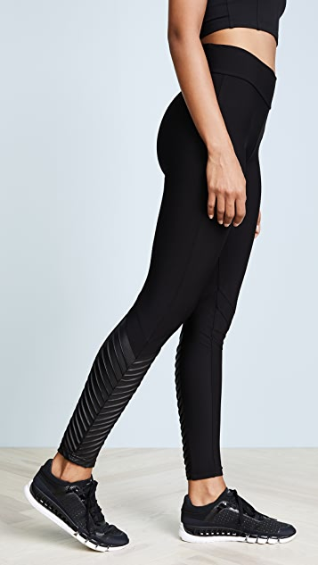Plush Fleece Lined Athletic Ankle Moto Leggings