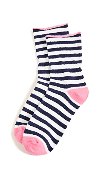 Plush Thin Rolled Fleece Socks at Shopbop