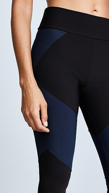 Plush Fleece Lined Contrast Leggings