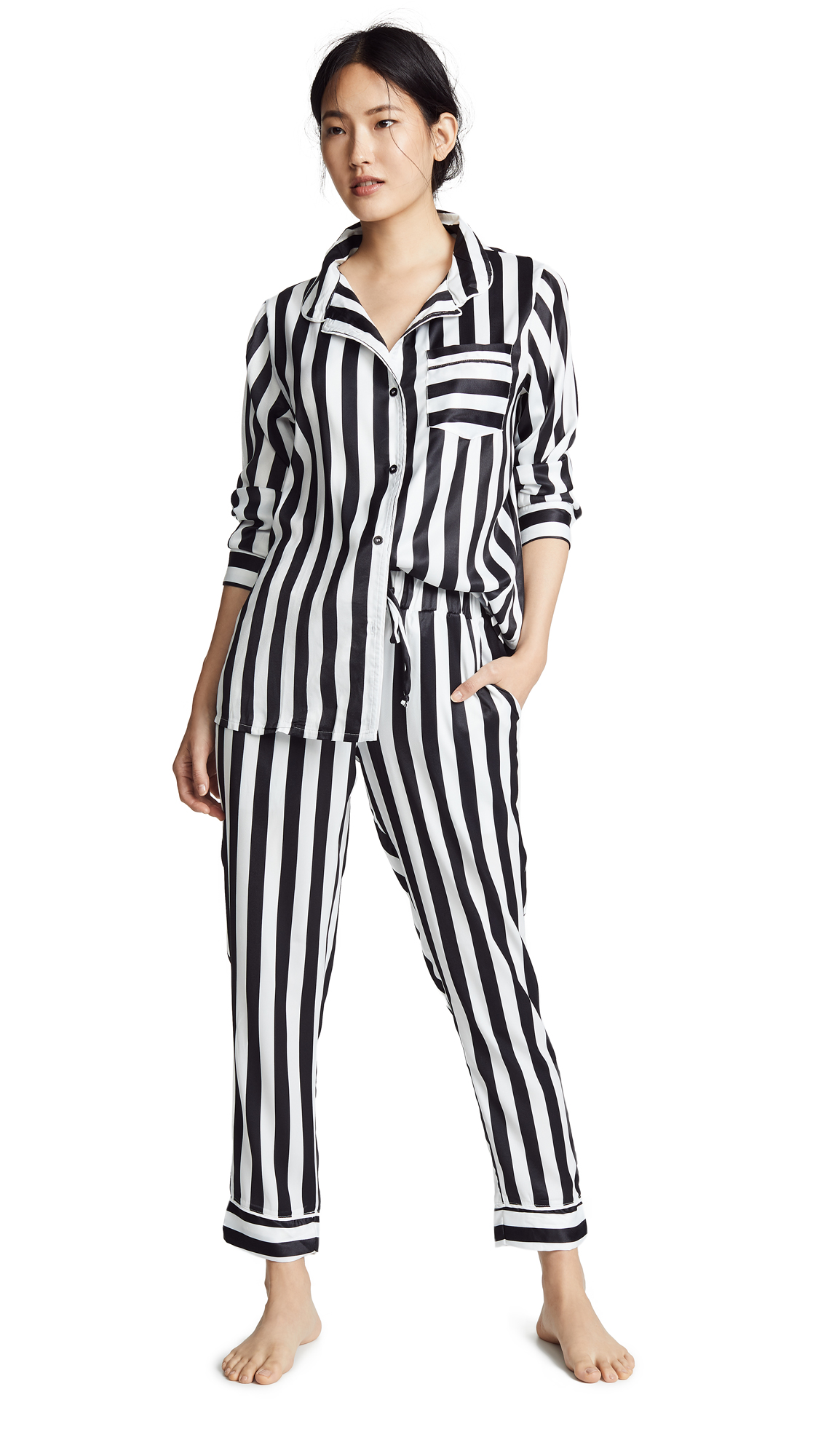 Buy Plush online - photo of Plush Silky Striped PJ Set
