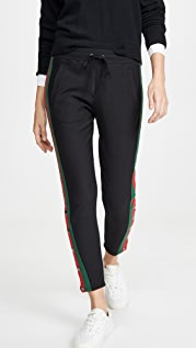 Plush Fleece Lined Tuxedo Track Pants