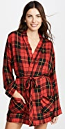 Plush Ultra Soft Plaid Robe