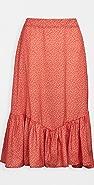 Plush 美人鱼花卉半身裙