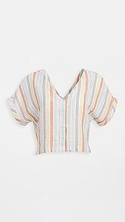 Plush Striped Cropped Top