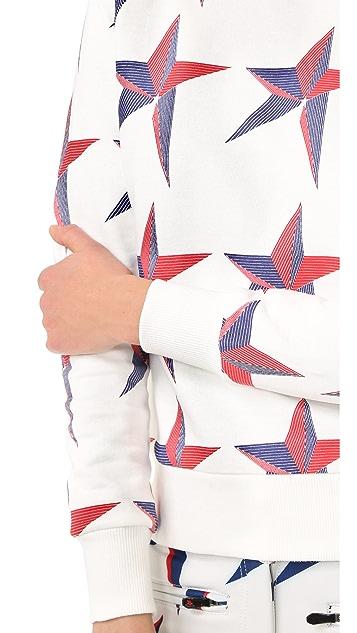 Perfect Moment Star Print Sweatshirt