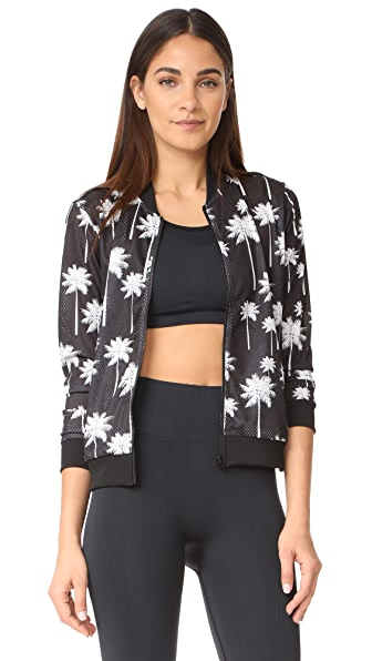 Perfect Moment Palm Mesh Jacket - Black Snow White Palm