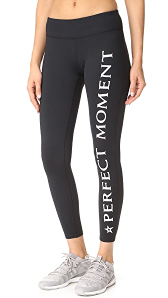 Perfect Moment PM Leggings - Black Snow White