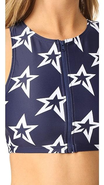 Perfect Moment Star Crew Neck Bikini