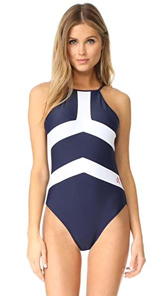 Perfect Moment Nordic One Piece In Navy Snow White